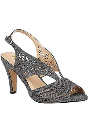 Lotus Women's Amelia Open Toe Heels, (Pewter Dj)