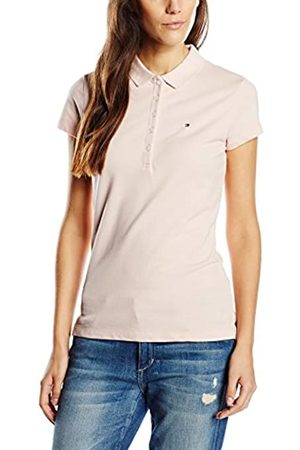 Tommy Hilfiger Women's New Chiara Str Pq Polo Ss Polo Short Sleeve 1 Polo Shirt