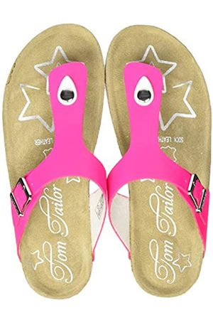 TOM TAILOR Girls' 8072217 Flip Flops, (neon 02665)