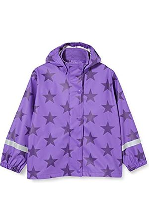 Green Cotton Girl's Rainwear Set Star Waterproof Jacket