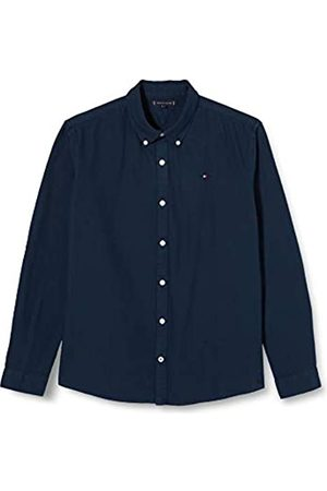 Tommy Hilfiger Boy's Overdye Dobby Shirt L/S (Twilight Navy 654-860 C87)