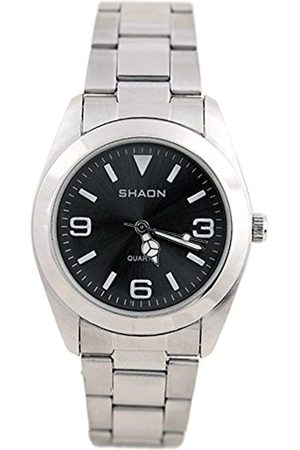Shaon Men's Quartz Watch with Dial Analogue Display and Stainless Steel Bracelet 22 7121 48