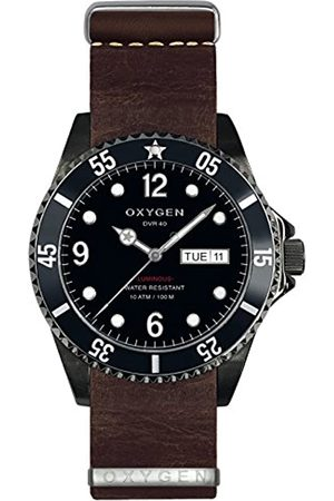 Oxygen Moby Dick 40 Mens Quartz Watch with Dial Analogue Display and Leather Strap EX-D-MBB-40-NL-DB