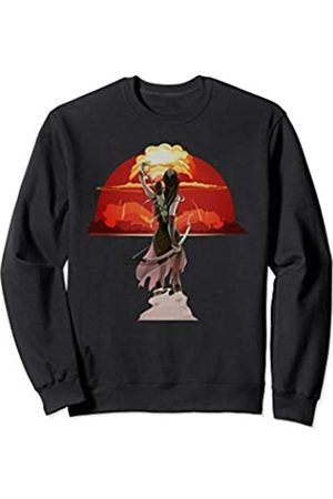 CRAZEELEBAH CLASSIC INC ARCHER GIRL DRAW ARROW HOLDING BOW OVER BLAST AREA Sweatshirt