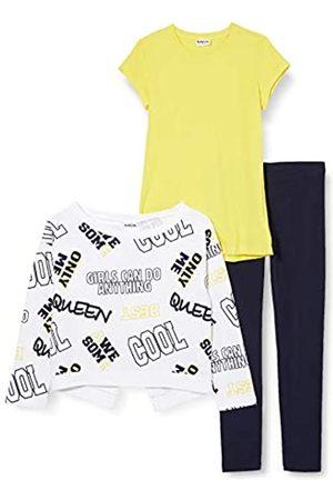 MEK Girl's Completo 3pz Top+t-Shirt+Legg. Clothing Set