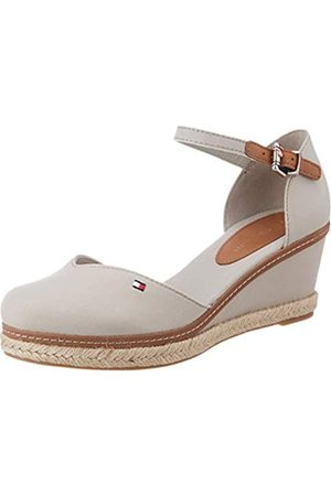 Tommy Hilfiger Women's Basic Closed Toe Mid Wedge Open Sandals, (Stone Aep)