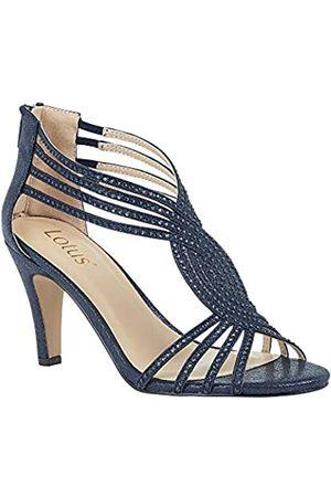 Lotus Women's Nicole Open Toe Heels, (Navy Ej)