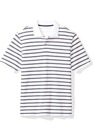 Amazon Regular-fit Striped Cotton Pique Polo Shirt /Navy