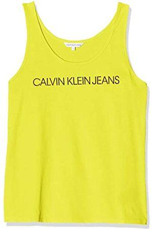 Calvin Klein Women's INSTITUTIONAL Logo Tank Vest Top, Solar Zhn