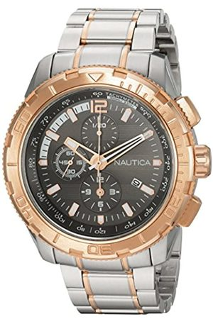 Nautica Men's Chronograph Quartz Watch with Stainless Steel Strap NAD26503G