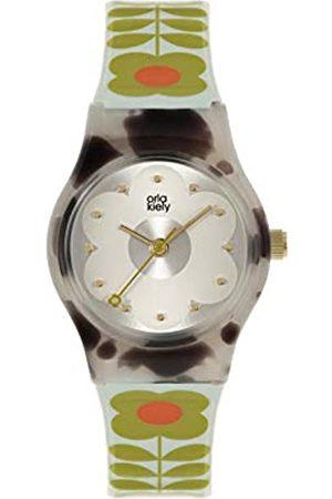 Orla Kiely Women's Analogue Analog Quartz Watch with Plastic Strap OK2328