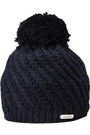 Giesswein Knitted Beanie Zellerwand Dark ONE - Warm Winter Beanie with fine Merino Wool, Soft Fleece Lining, Cap with Bobble for Men and Women