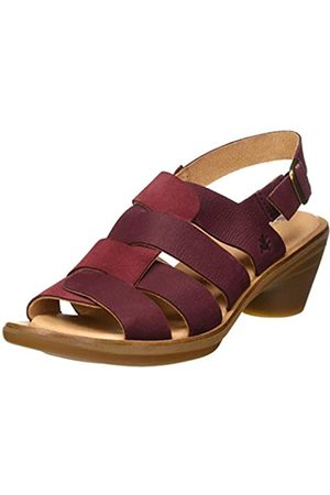 El Naturalista Women's N5358 Pleasant-LUX Suede Aqua Open Toe Sandals, (Rioja Rioja)