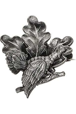 Schnabel Schnabel Jewelry Tie Pin Badge Brushed Plated Oak Leaf Pattern Auerhahn - 001203 Stick V178