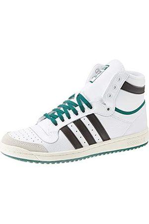 adidas Men's Top Ten Hi Sneaker, Blanc/Noir/Vert