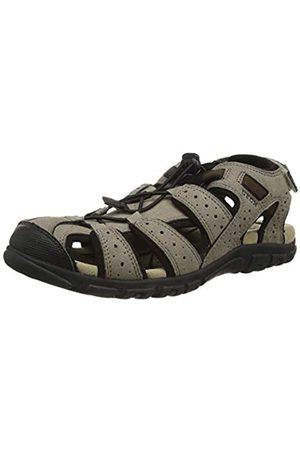 Geox Men's Uomo Sandal Strada B Closed Toe, (Taupe/ C6088)