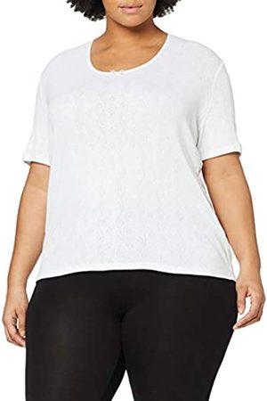 Damart Women's's T-Shirt Col V Petits Cœurs Thermolactyl Degré 3 Thermal Top