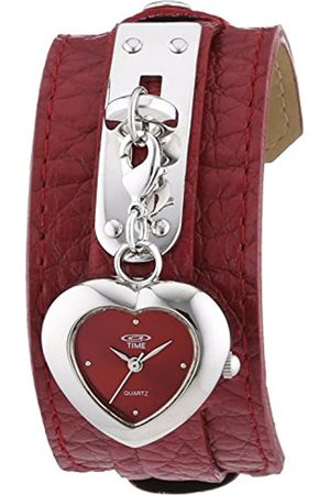 At Time Women's Quartz with Analogue Display and PU Leather Time Wristwatch 422-1007-77