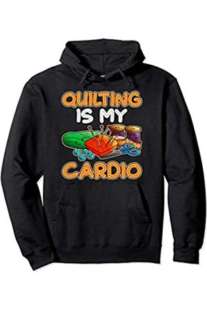 Tee Styley Quilting Is My Cardio Quilts Women Mom Grandma Aunt Sister Pullover Hoodie