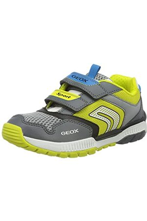 Geox Boys' J Tuono Low-Top Sneakers, (Dk /Lime C1267)