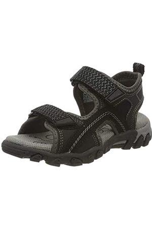 Superfit Boys' Hike Ankle Strap Sandals, (Schwarz 00)