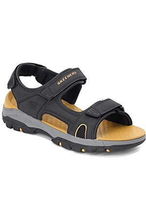 Skechers Men's TRESMEN HIRANO Open Toe Sandals, ( Synthetic Blk)
