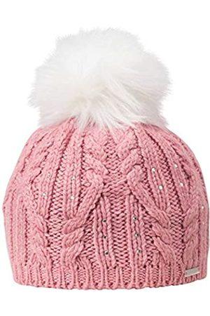 Giesswein Beanie Wolkenburg Azalee ONE - Knit hat with Merino Wool, Glittering Swarovski Crystals, Pompon Made of Faux Fur, Fleece Lining