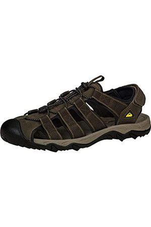 McKinley Men Outdoor Shoes - Men's Korfu Low Rise Hiking Shoes, Braun ( Dark 140)