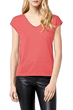 ONLY Women's ONLSILVERY S/S V Neck Lurex TOP JRS NOOS T-Shirt