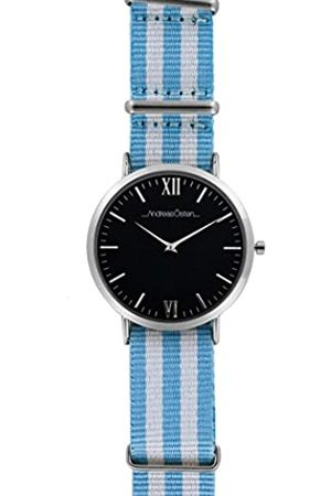 Andreas Osten Unisex-Adult Analogue Classic Quartz Watch with Nylon Strap AO-96