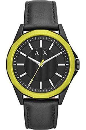 Armani Mens Analogue Quartz Watch with Leather Strap AX2623