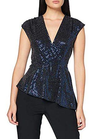 New Look Women's GO Sequin Belted SLVS TOP Shirt