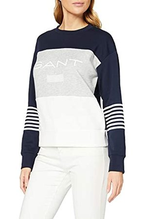GANT Women's D1 Stripe C-Neck Sweat Sweatshirt