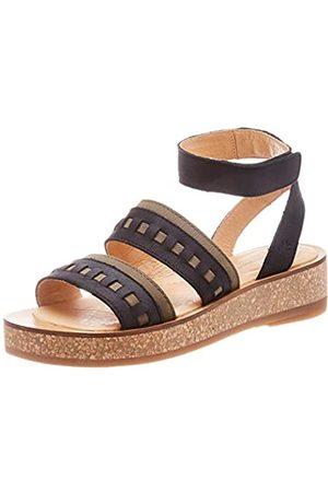 El Naturalista Women's N5591 Pleasant Mixed/TÜLBEND Ankle Strap Sandals