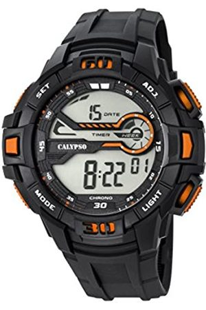 Calypso Men's Digital Watch with LCD Dial Digital Display and Plastic Strap K5695/7
