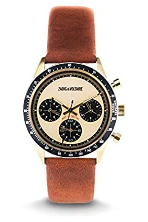 Zadig & Voltaire Unisex Analogue Classic Quartz Watch with Leather Strap ZVM116