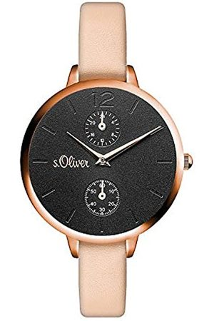 s.Oliver Womens Analogue Quartz Watch with PU Strap SO-3535-LM