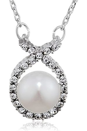 Love Affaire Women's Necklace with Pendant Rhodium-Plated Brass 20-29-1 1000