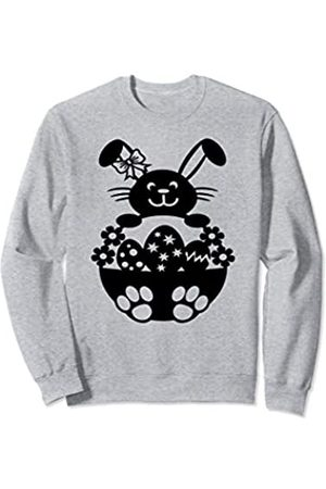 Easter Shirt for Women,Men, and Kids Happy Easter Girl Bunny with Bow for Women and Kids Sweatshirt