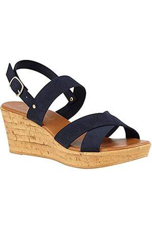 Lotus Women's Angelica Open Toe Sandals, (Navy De)
