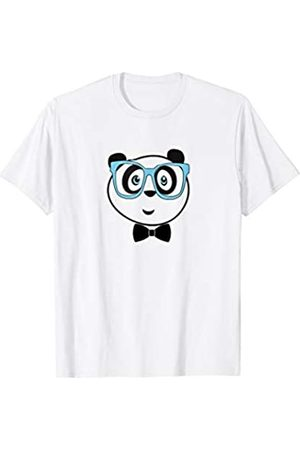 HAYAT FUNNY PANDAS CUTE NERD PANDA WITH GLASSES AND TIE FOR MEN
