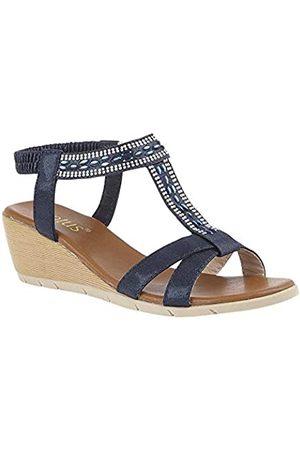 Lotus Women's Bindi Open Toe Sandals, (Navy De)