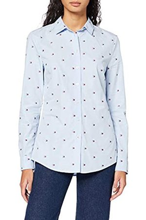 Tommy Hilfiger Women's Felicia Shirt LS W2 Jumper, (Mini Flag Allover Embr/ 0Zs)