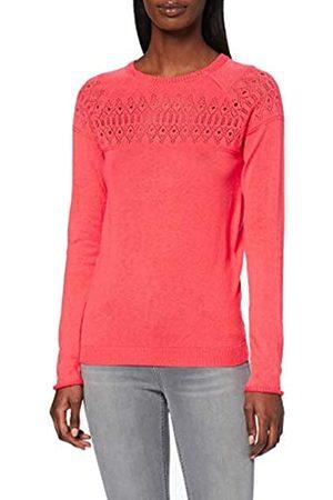 Dorothy Perkins Women's Coral Plain Pointelle Yoke Jumper Sweater