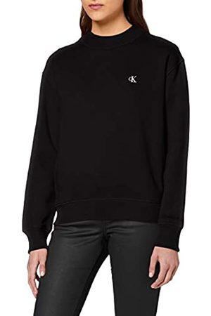 Calvin Klein Women's CK Embroidery Regular Crew Neck Sweater