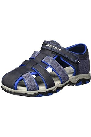 Lumberjack Unisex Kids' Levi Closed Toe Sandals, (Navy /Royal M0142)