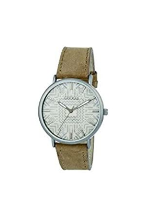 Snooz Men's Analogue Quartz Watch with Leather Strap Saa1041-82