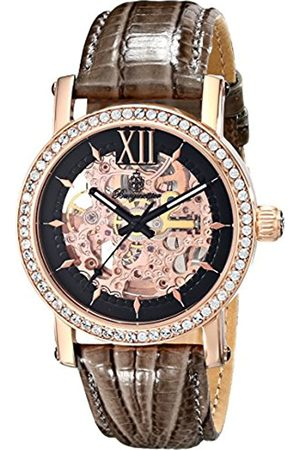 Burgmeister Ladies Automatic Watch with Rose Dial Analogue Display and Leather Strap BM158-305