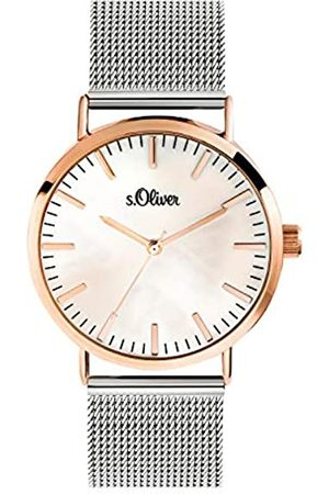 s.Oliver Women's Analogue Quartz Watch with Stainless Steel Strap SO-3669-MQ