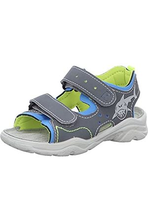 Grey Grigio//Sky 485 7.5 UK Ricosta Boys/' Surf Ankle Strap Sandals